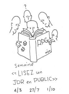 Semaine Lisez un JdR en public