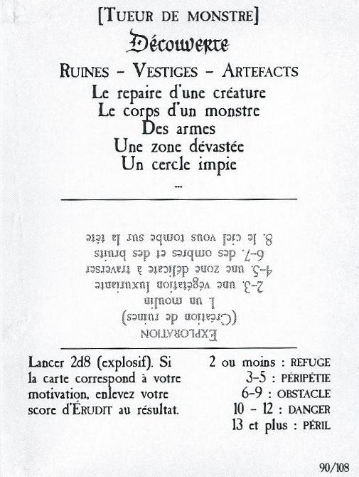 Un exemple de Carte Patrouille
